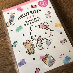 HELLO KITTY-NWT Memo Pad with Stickers